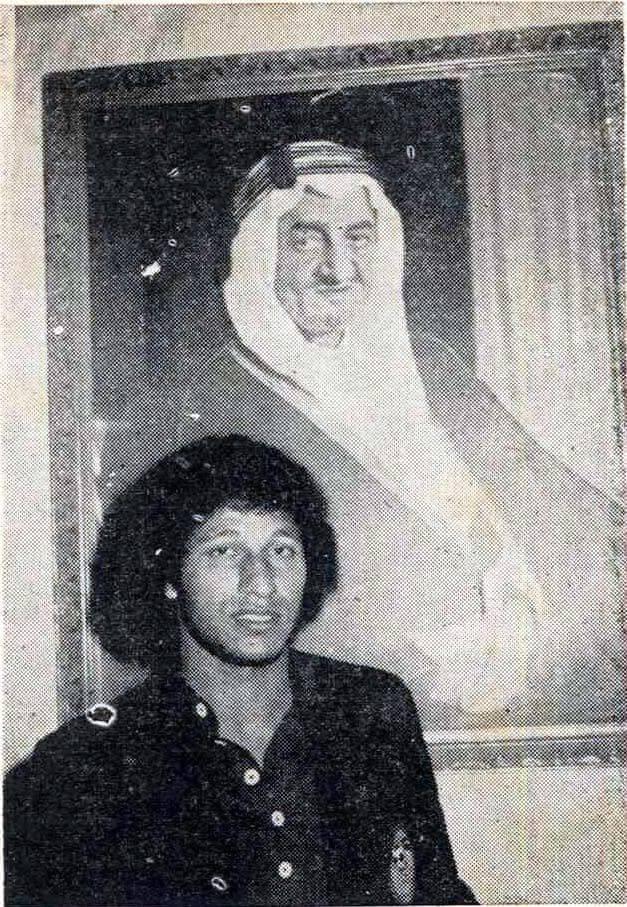 الخطيب مع الامير عبد الله الفيصل