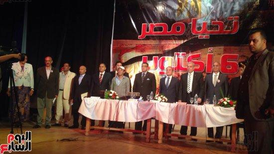 علاء مرسى خلال احتفال القليوبية بنصر اكتوبر