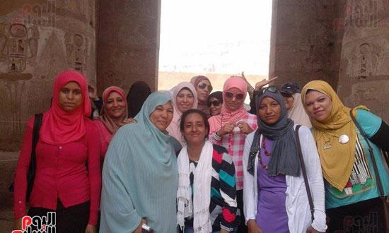 زيارة فوج قطار الشباب لمعبد الأقصر بكورنيش النيل