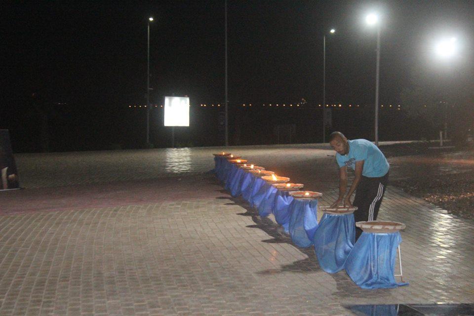 الاستعدادات المسيرة الشموع بشرم الشيخ