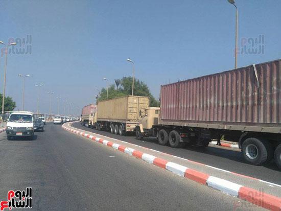 مساعدات القوات المسلحة تنتظر التحرك لساقلته