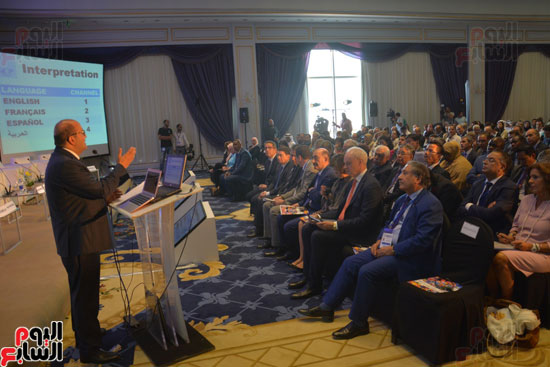 هشام بدر مساعد وزير الخارجية في كلمته بالافتتاح