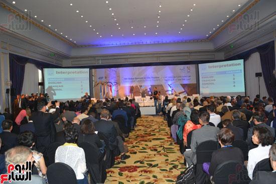 جانب من فعاليات افتتاح القمة العالمية الخامسة لسياحة المدن