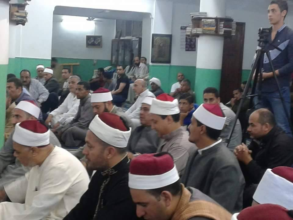 اثناء محاضرة اوقاف الإسكندرية