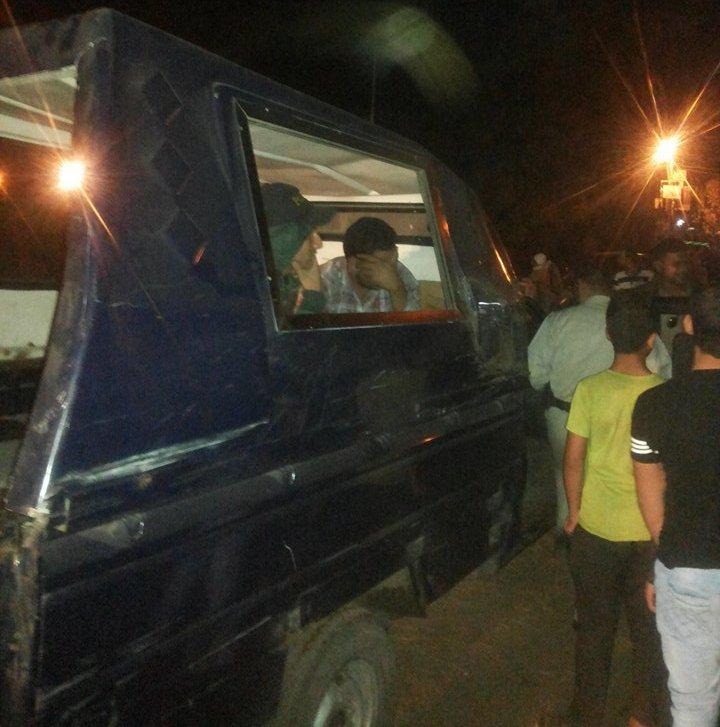 السائق المتهم أثناء ضبطه بالقناطر الخيرية