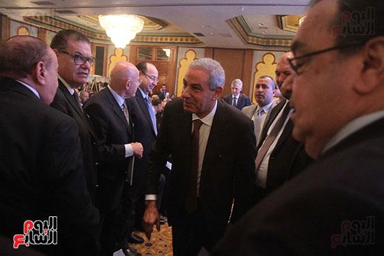 وصول وزير الصناعة والتجارة المهندس طارق قابيل