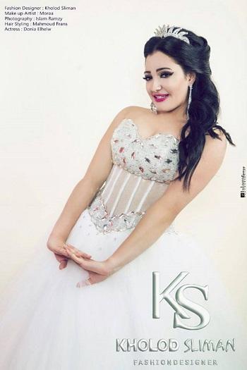 حسناء الزمالك بفستان فرح من تصميم خلود سليمان  (2)