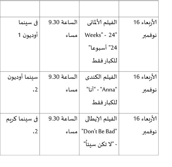 عروض المسابقة الرسمية وأفلام الكبار فقط بمهرجان القاهرة (4)