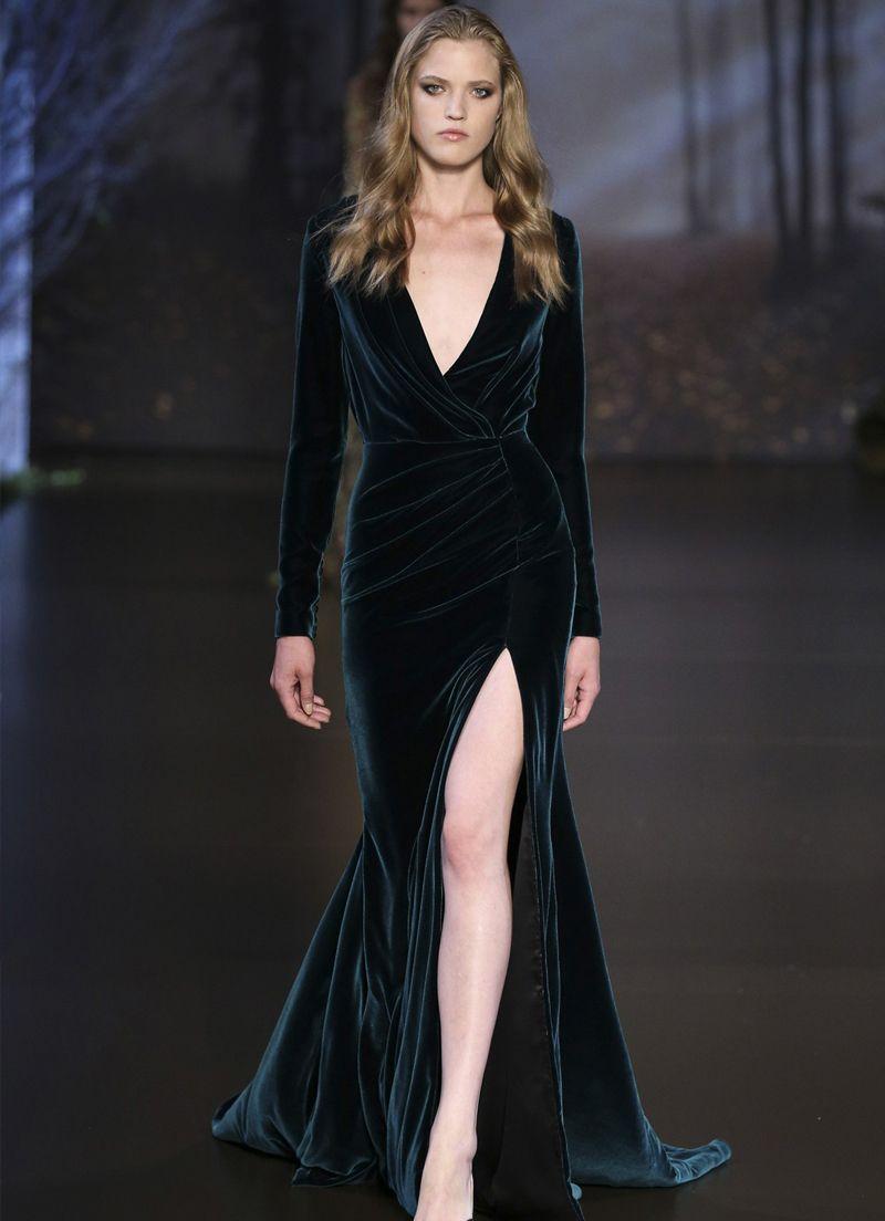 فستان طويل بفاتحة