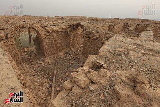 مدينة نمرود الأثرية بعد التدمير