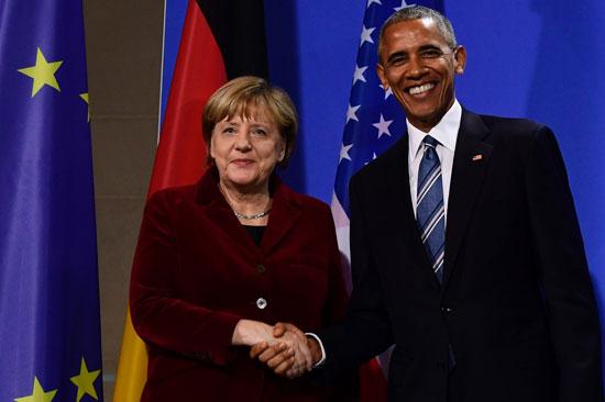أوباما وميركل يؤكدان على فوائد اتفاق التجارة بين الاتحاد الأوروبي وأمريكا