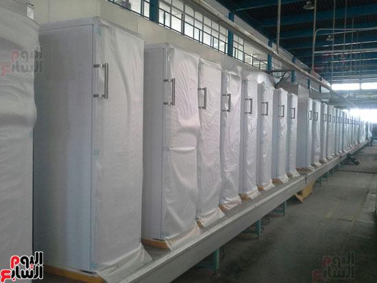 ثلاجات وزارة الانتاج الحربى تنتج ثلاجات بأيدى مصرية