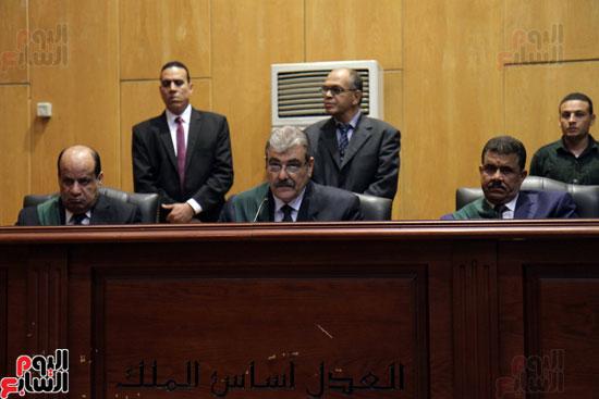 هيئة المحكمة برئاسة المستشار أحمد أبو الفتوح