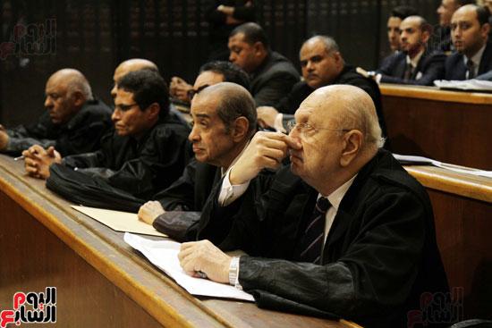 جانب من محاكمة المتهمين فى قضية البورصة