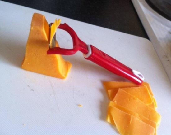 تقطيع شرائح الجبن