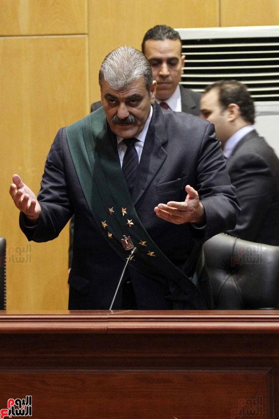 المستشار أحمد أبو الفتوح رئيس محكمة جنايات القاهرة
