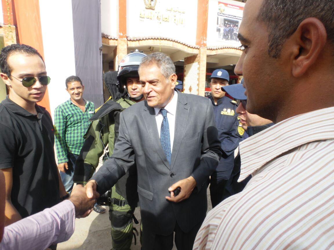 فريق وزارة الداخلية يتفقد الحماية المدنية بالفيوم