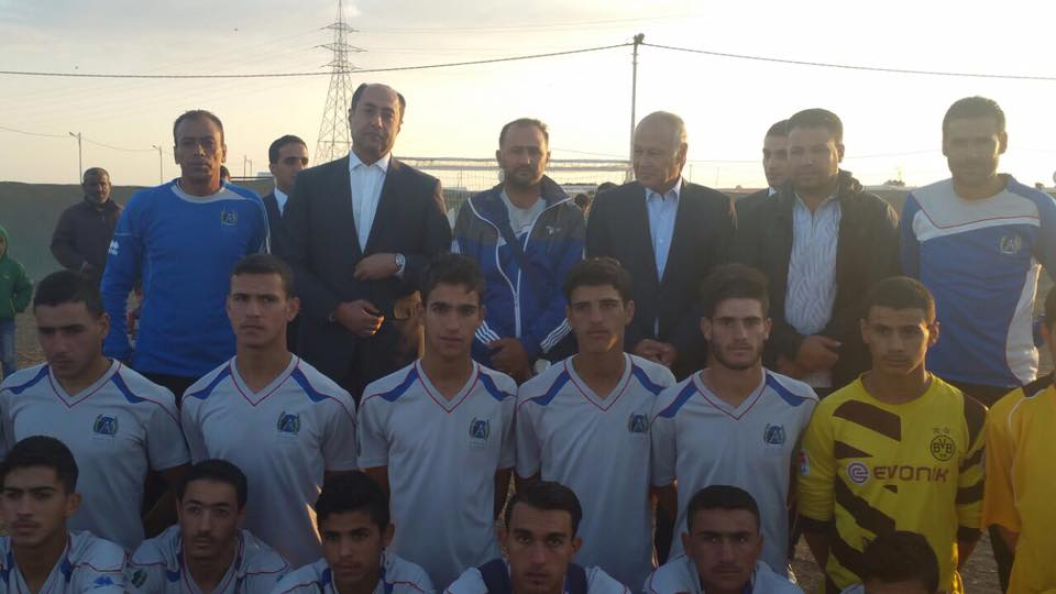 فرق كرة القدم فى مخيم الزعترى