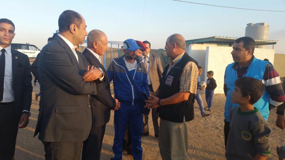 أحمد أبو الغيط يتفقد مخيم الزعترى