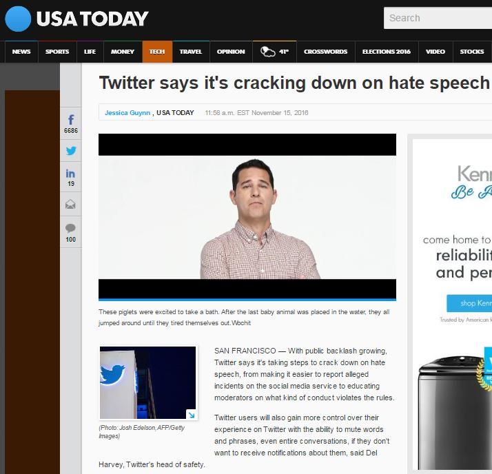 قرار تويتر بشن حملة على خطاب الكراهية