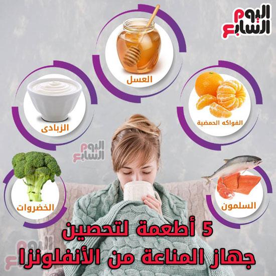 5 أطعمة لتحصين جهاز المناعة