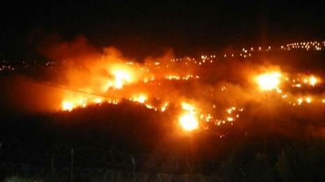 استمرار اشتعال الحرائق ليلا (2)