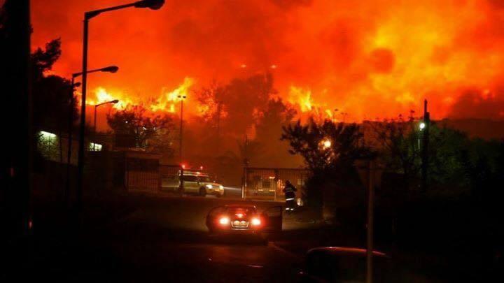 استمرار اشتعال الحرائق ليلا (6)