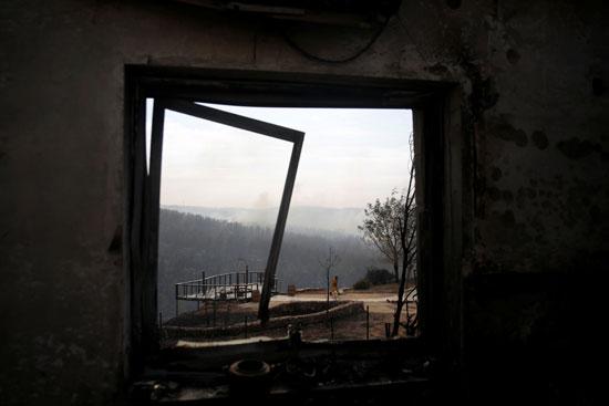 جانب من حرائق منازل الإسرائيليين