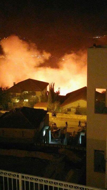 استمرار اشتعال الحرائق ليلا (5)