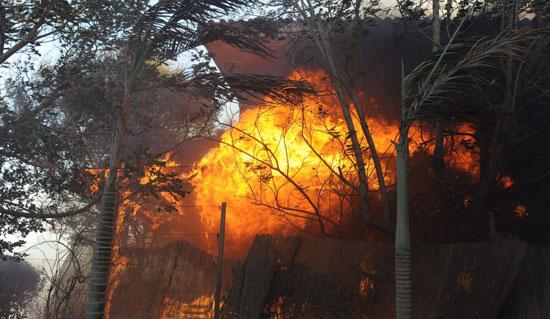 حريق فى منزل إسرائيلى