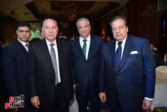 رجل الاعمال محمد أبو العينين وأحمد زكى بدر وزير التنمية المحلية و المستشار أحمد الزند