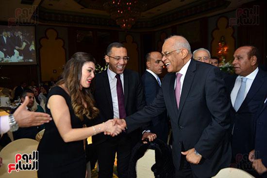الدكتور على عبد العال و والكتب الصحفى والإعلامى خالد صلاح وزوجته الإعلامية شريهان أبو الحسن