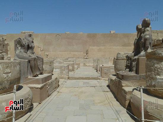 صورح ومداخل معبد هابو غربى محافظة الأقصر