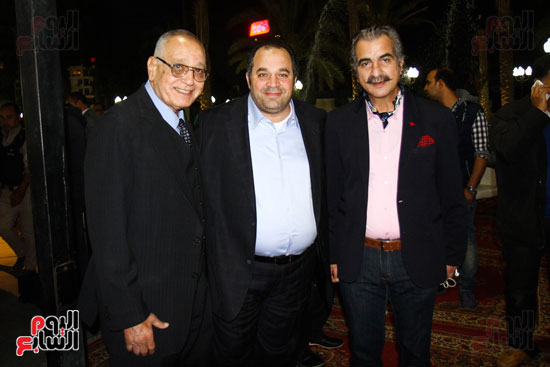 عصام شلتوت ومحمد كامل وعبد المنعم الحاج خلال الاحتفالية