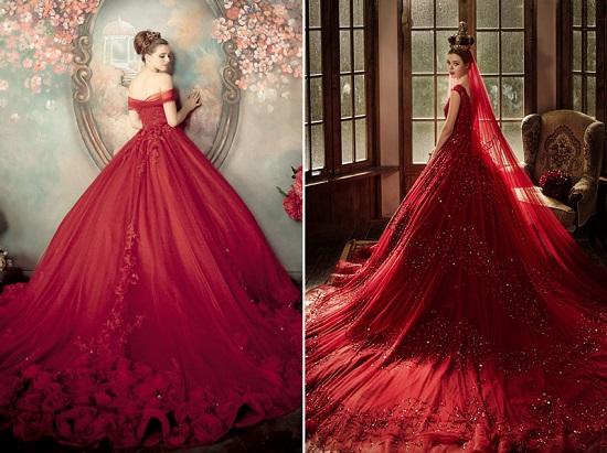 فستان زفافك باللون الأحمر