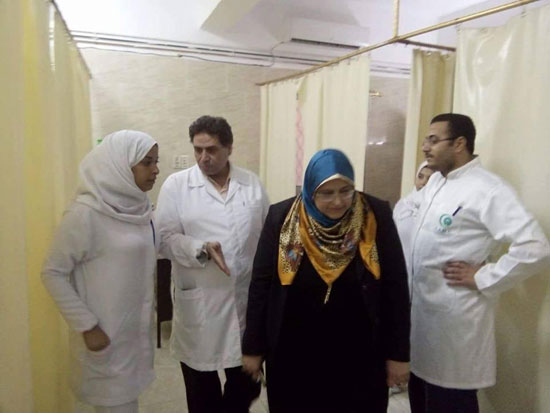 وكيل وزارة الصحة تتفقد المستشفى