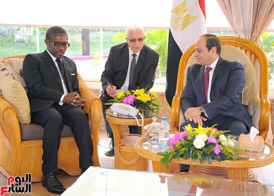 الرئيس السيسى يستقبل تيودورو أوبيانج نائب رئيس جمهورية غينيا الاستوائية