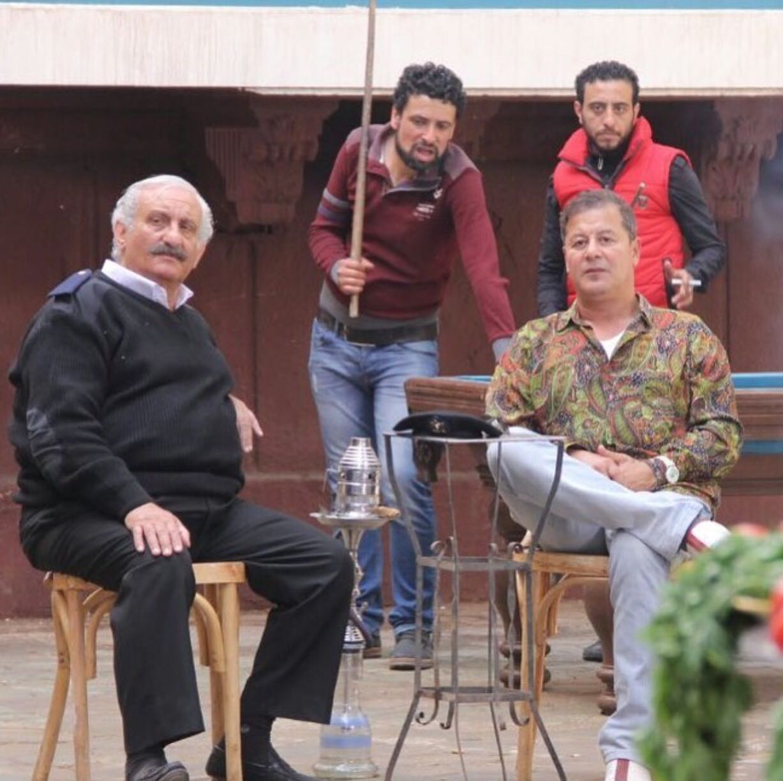 أحمد فتحى وأحمد حلاوة فى مشهد من المسلسل