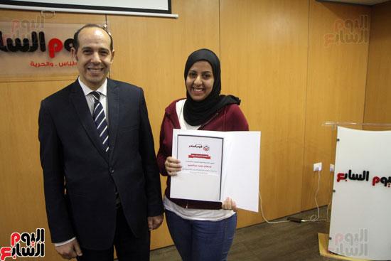 صفوت العالم يسلم شهادات خريجى أكاديمية اليوم السابع (24)