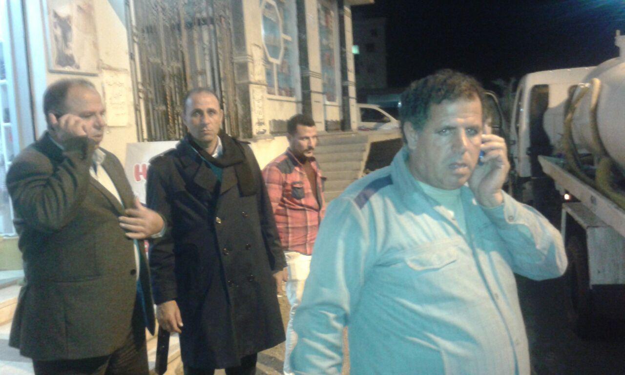 متابعات لنزح المياه من شوارع مطوبس
