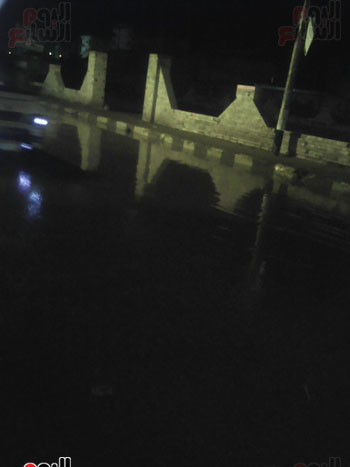 المياه بشارع البحر