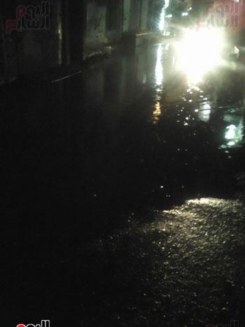 آثار هطول الأمطار بفوه