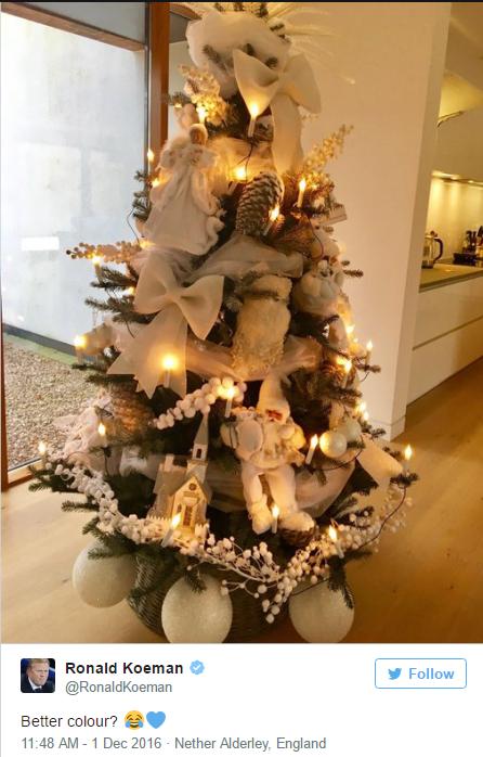 شجرة عيد الميلاد بعد تغيير لونها