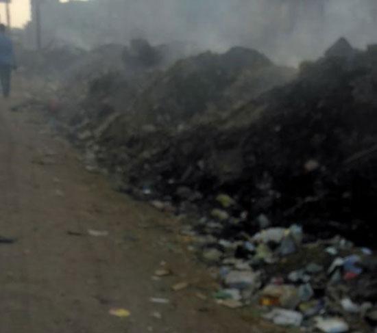 نيران وحرائق ذاتية بسبب تراكم القمامة