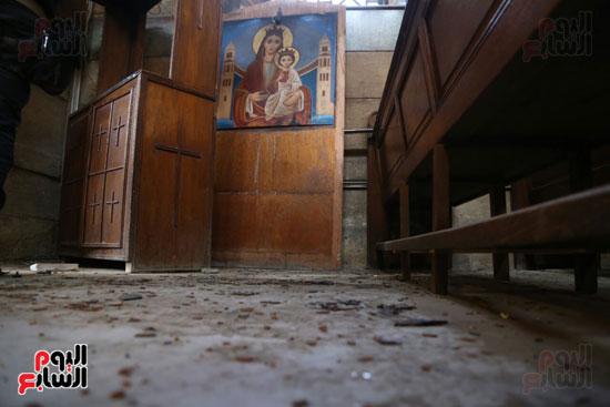 اثار تفجير الكنيسة المرقسية (6)
