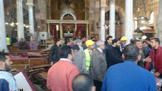 بالصور.. انفجار فى محيط الكاتدرائية بالعباسية ووقوع  وفيات وإصابات