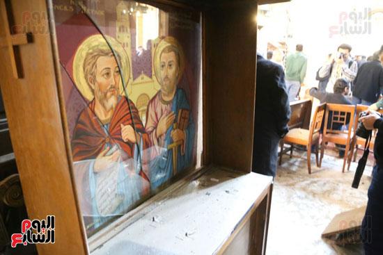 اثار تفجير الكنيسة المرقسية (2)