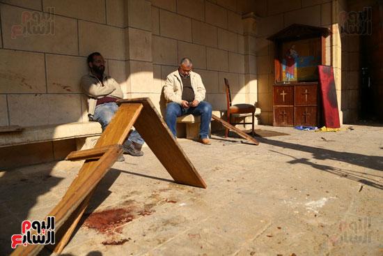 اثار تفجير الكنيسة المرقسية (3)