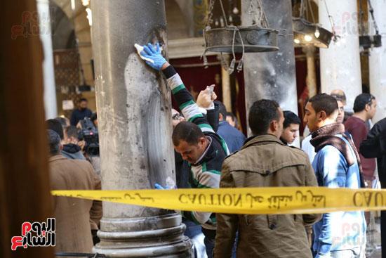 اثار تفجير الكنيسة المرقسية (1)