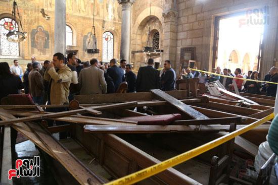 اثار تفجير الكنيسة المرقسية (7)